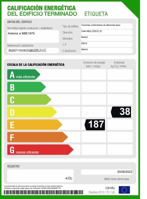 Que es certificado energetico